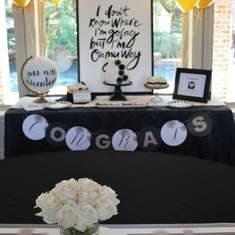 STYLISH BLACK, WHITE, + GOLD GRADUATION PARTY! - Graduation/End of school