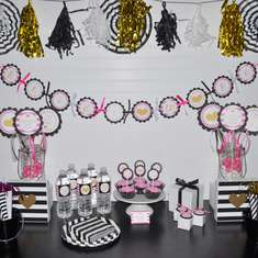 Pink, Black and Gold Heart Bridal Shower - Kate Spade Inspired