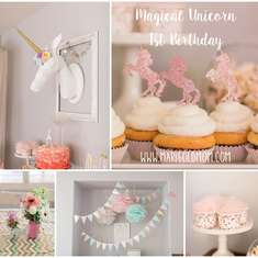 Magical Unicorn 1st Birthday - Unicorns