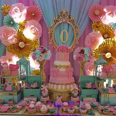 Pink and blue baby shower - None