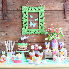 Garden Party Dessert Table - Spring