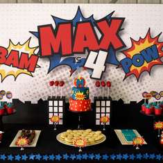 Mega Max turns 4 - Super Hero
