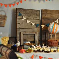 Vintage Hot Air Balloon Baby Shower - Hot Air Balloon