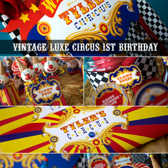 Vintage Luxe Circus 1st Birthday - Circus / Carnival