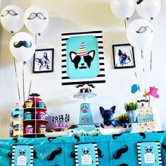 """PUPSTACHIO"" DOGGIE BIRTHDAY PARTY! - Mustaches / Little Man"
