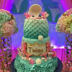 Twins mermaid  baby shower - Mermaids