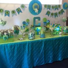 Carly, Colin and Chase's First Communion - Pinwheels - turquoise and lime