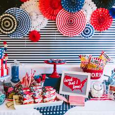 2nd Birthday Party - Red, White & Blue - Archer is TWO!