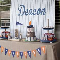 "Deacon's Named ""Rookie of the Year""! A Baseball First Birthday Party - Baseball"