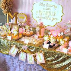 She Leaves Sparkle Whereever She Goes - Pink and Gold Sparkle Party