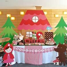 Chloe's Red Riding Hood Dessert Table - Red Riding Hood in the woods