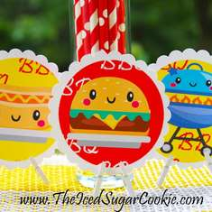 BBQ Birthday Party Printables - Kawaii BBQ - Summer