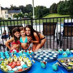 Elias 13th Birthday - Pool Party - Seashell Theme Sweet Table Treats 2016 - Seashell Theme