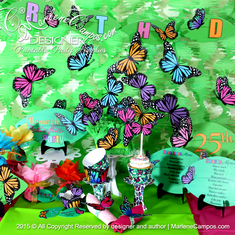 Monarch Butterflies Party Decoration - Butterflies