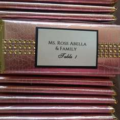 Wedding Place Cards - Bling