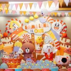 A sugar-coated-candy-rific-birthday bash !! - brown and cony (line friends)