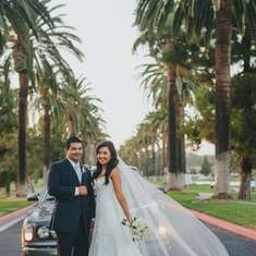 "Cassandra & Eric Say I Do - ""Lavender, Navy & Silver Wedding"