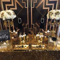 The Roaring 20's (Great Gatsby) 50th birthday party - Great Gatsby
