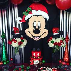 Christmas Mickey Birthday for Nathaniel  - Mickey Mouse, Christmas, Birthday Boy