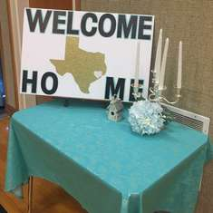 Julianna's welcome home - Texas theme