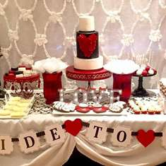 Denises Damask Bridal Shower  - Black, White, Red & Damask