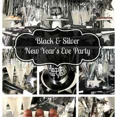 Silver & Black New Year's Eve Party - Silver & Black