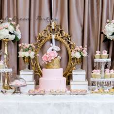 Elegant Gold and Pink Birthday - Elegant Gold and Pink