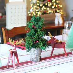 Christmas Dinner  - Glam Rustic Tablescape
