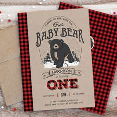 Baby Bear's 1st Birthday Bash - Baby Bear Lumberjack