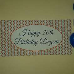 Daysia's 20th Birthday Party - Orange and royal blue