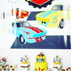 Bold, Fast & Classic Race Car Birthday Party - Race Cars