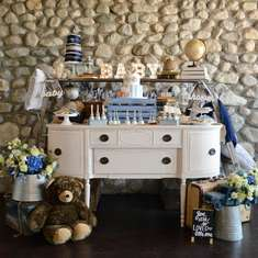 Vintage Chic Baby Boy Shower - Vintage Chic