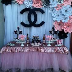 Classy and fabulous Chanel Birthday Party - Chanel