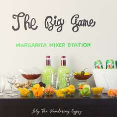 Big Game Margarita Mixer Station  - Super Bowl