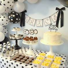 Black & White Polka Dot Party - None