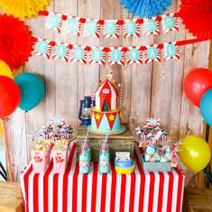 Sanders Family Backyard Carnival Theme Party - Backyard carnival