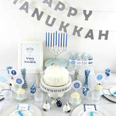 Blue & Silver Hanukkah party - Hanukkah