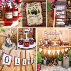 Little Lumberjack Party - outdoor activities, grizzly bears campfires and so much s'more! - Little lumberjack