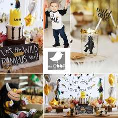 "Wild One birthday party - ""Where the Wild Things are"""