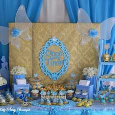 Bella's Cinderella themed blue & gold birthday party - Cinderella