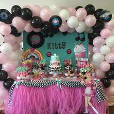 Kitty's Grease birthday party!!  - 1950's