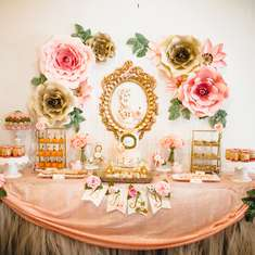 Floral baby shower - Vintage / Retro