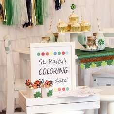 St. Patty's Coloring Playdate! - St. Patrick's Day
