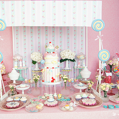 Madalena's Candy Shop Baptism & Birthday Party - CANDY SHOP