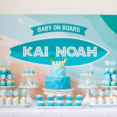 Baby on Board Surfing Themed Baby Shower - Beach / Surf