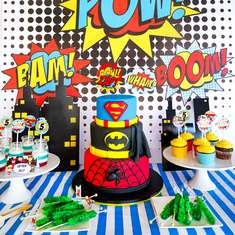 William's 'Pow-erful' Superhero Birthday Party - Superhero (Boy)