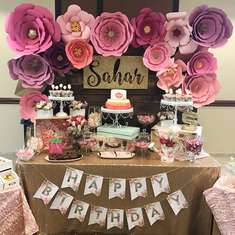 Sahar's Floral 1st Birthday party - Floral