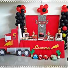 Lucas Birthday cars party - Cars (Disney movie)