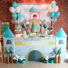 Prince themed - Tiffany Blue + Gold - Little Prince turns One