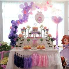 Sofia The First Ombre Purple & Pink birthday party - Sofia the First